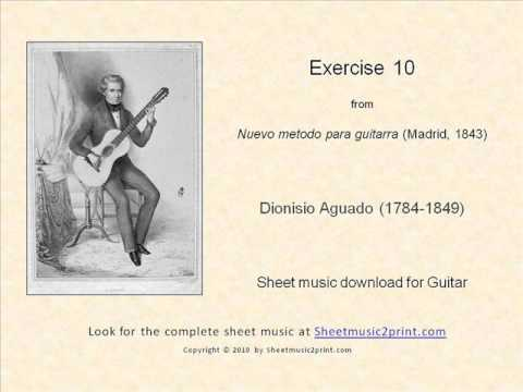 Aguado : Exercise 10 (New Guitar Method)