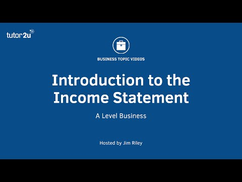 Introduction to the Income Statement