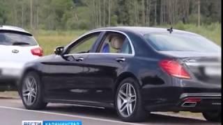 «Всех двигаем, пацаны с нами!»: в Калининграде свадебный кортеж выехал на встречку