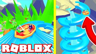 Buying EVERY POOL TOY to go down the BIGGEST WATER SLIDE in Roblox Adopt Me!