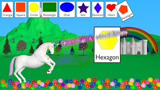 Cover images Shapes Unicorn - Learning for Kids