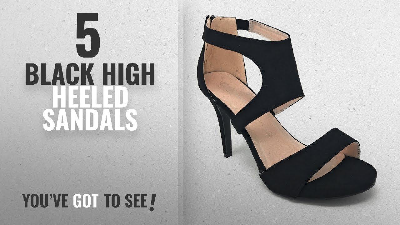 54ae6a9304a Top 5 Black High Heeled Sandals [2018]: Charles Albert Women's Wide-Width  Peep-Toe Dressy