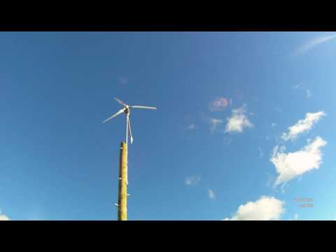 1500w (Not!) 24v Istabreeze Wind Turbine Part 1.