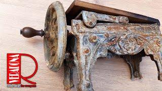 Rusty cast iron tobacco cutter Restoration