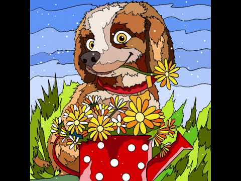 Paint Color Pebbles Looked Cute As She Tried T Giver Her Momma A Flower  Coloring Page