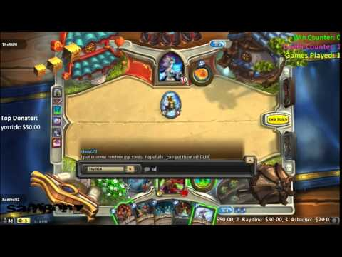 LiveStream - Hearthstone | [NA/US] Playing with Chatroom ( ¬‿¬)