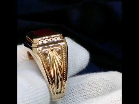 Мужской перстень с крупным Рубином