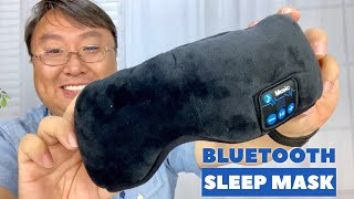 This Sleep Eye Mask has Bluetooth!