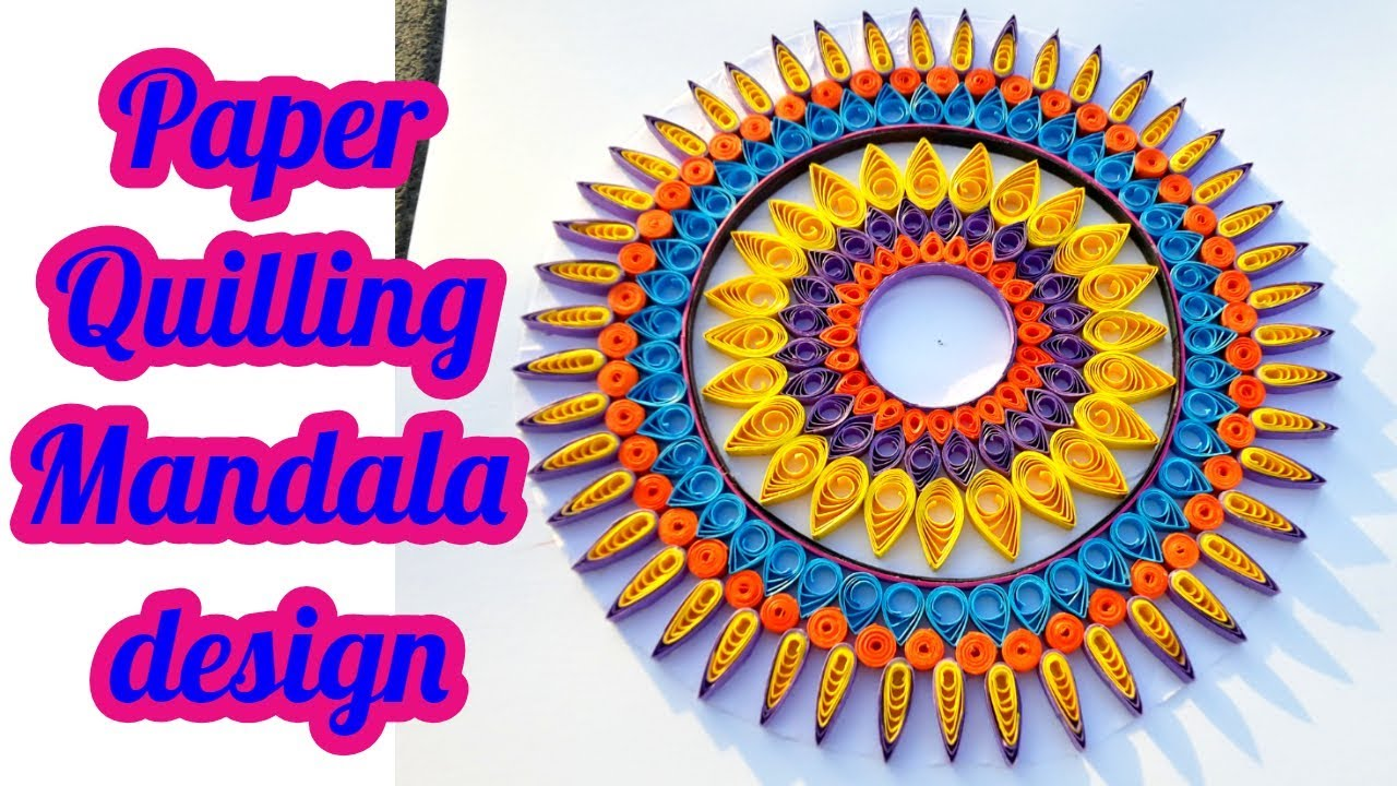Paper Quilling How To Make Beautiful Mandala Designs By