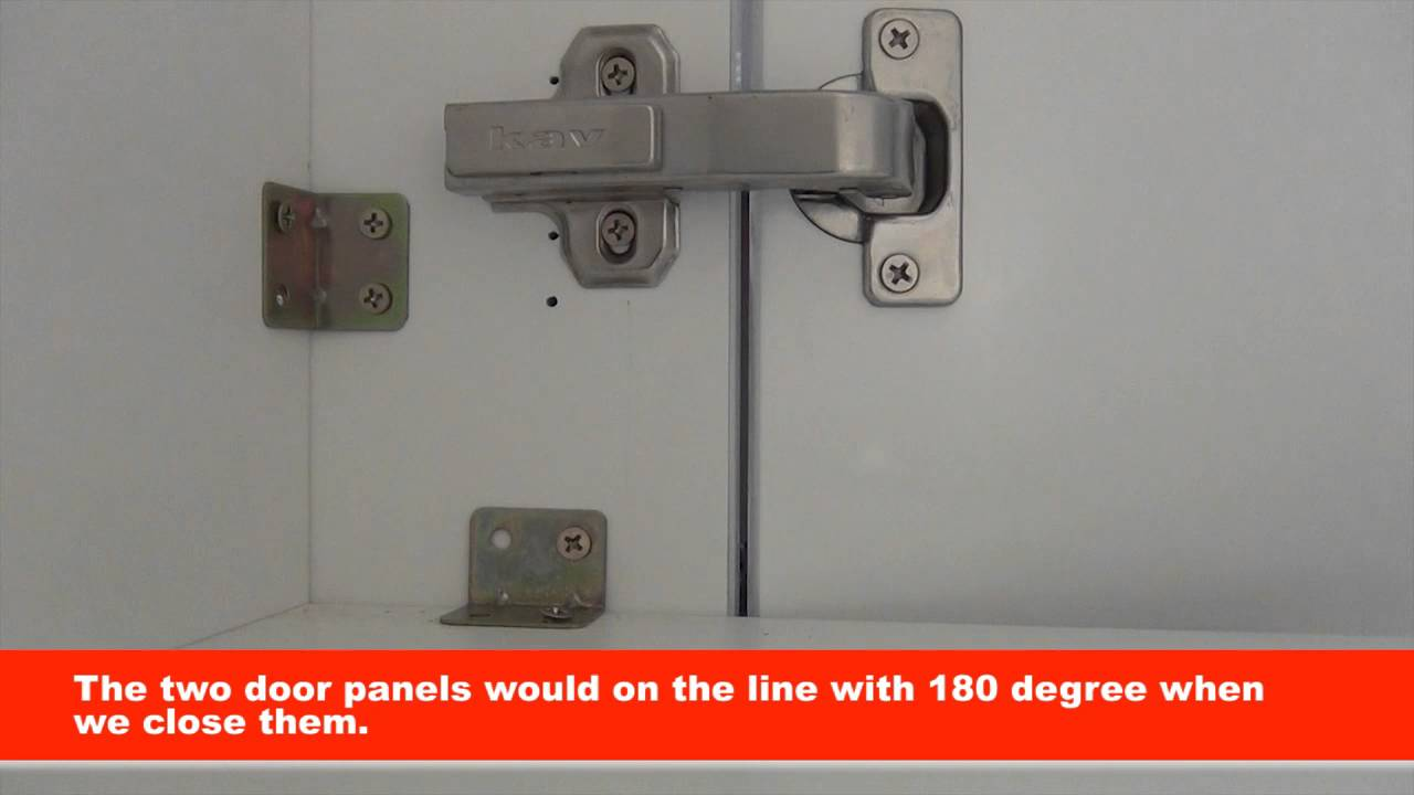 Kitchen Door Hinges How Much Is An Ikea Kav 90 Degree Soft Close Cabinet Youtube