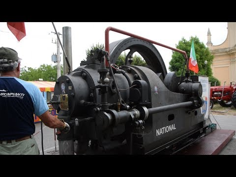 National Gas Engine 40 HP - start up , operation + details