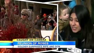 Soldier Surprises Wife, Son With Reunion During the Parade