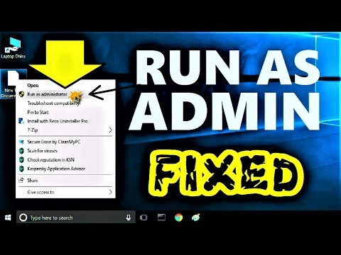 Run As Administrator Not Working Windows 10 / 8 / 7 | Run As Admin Option Not Showing on Right Click