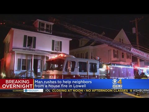 Four Escape Large Fire At Lowell Home