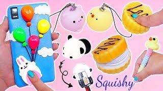 SNEAK TOYS IN CLASS!! Funny School Supplies with Squishies + Squishy Phone Case