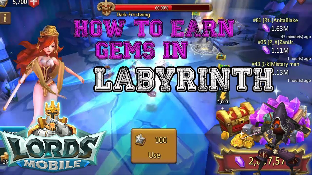 How To Get Gems For Free In Labyrinth Lords Mobile Youtube