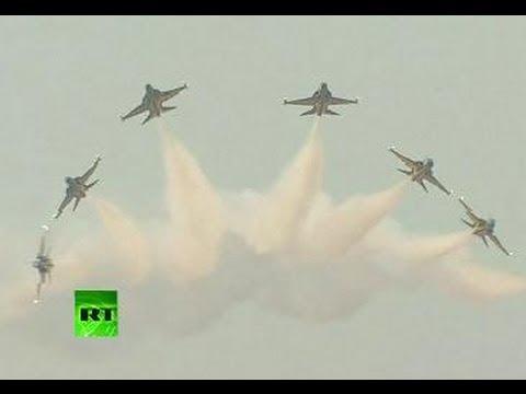 S. Korea air show: Black Eagles team, US jets practice maneuvers