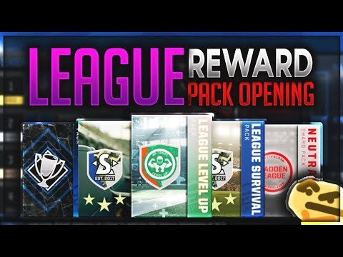 SO MANY FREE REWARDS! LEAGUE LEVEL UP AND LEAGUE SURVIVAL PACK OPENING! Madden Mobile 18