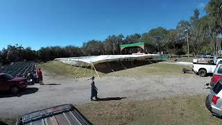 Florida Gospel Crusade Tent Setup
