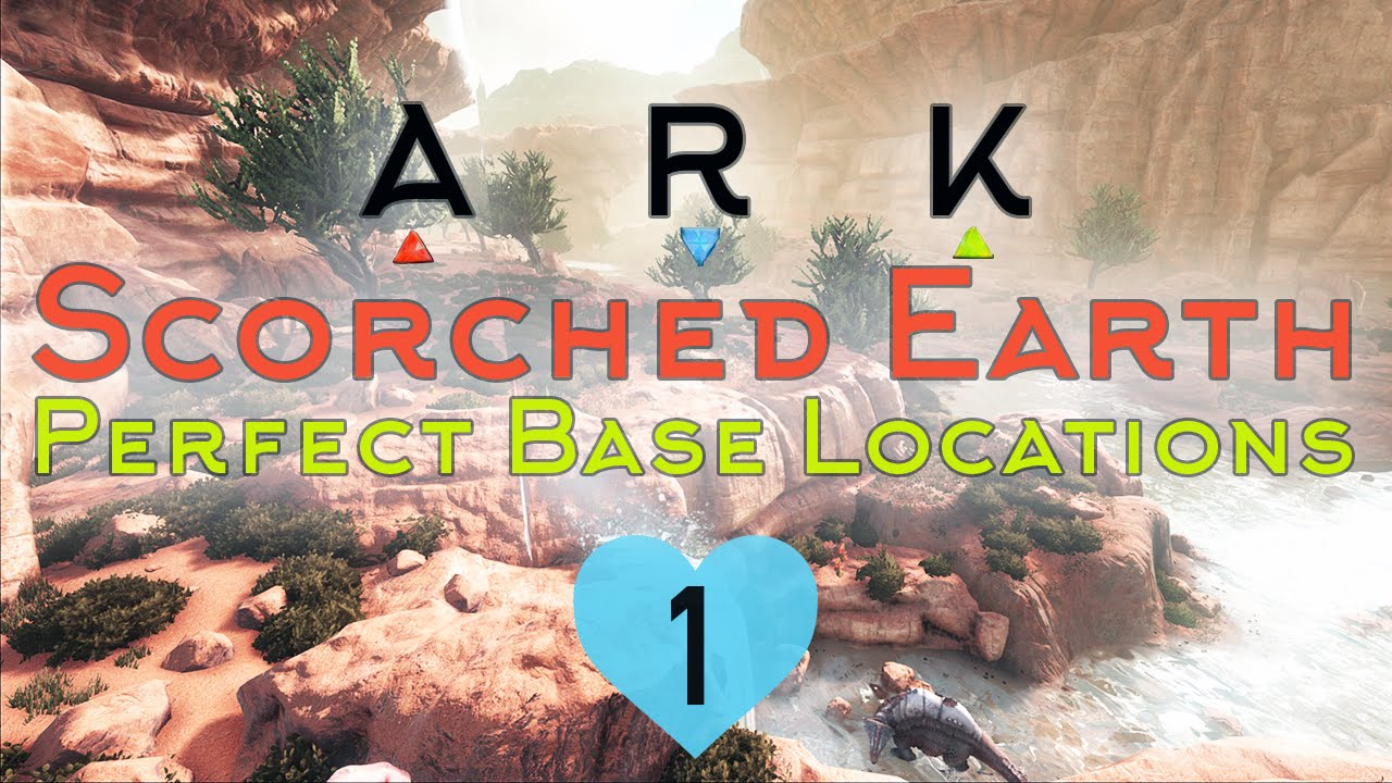 Scorched Earth Wind Map Top Base Locations in SCORCHED EARTH ARK Survival Evolved   YouTube