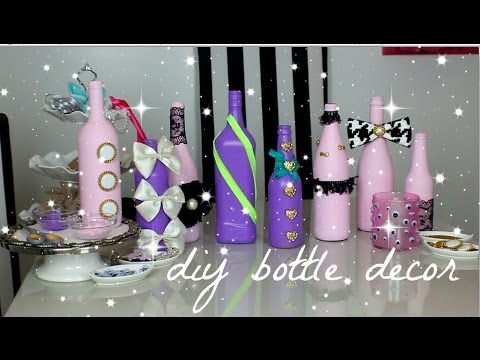 DIY wine bottle decor