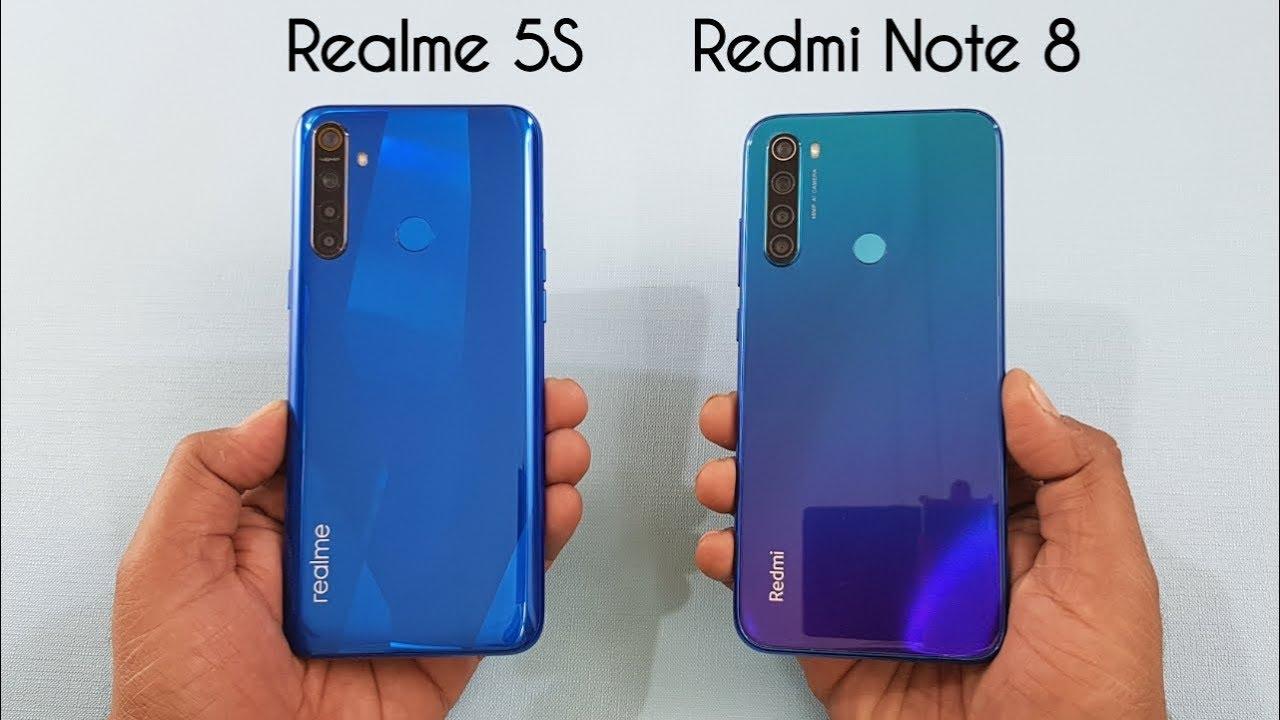 Realme 5S vs Redmi Note 8 SpeedTest & Camera Comparison - YouTube