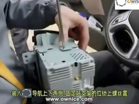 how to install the car dvd player gps navigation for hyundai ix35 2010 to  2014 installation guide - youtube