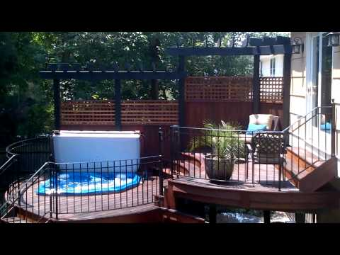 how to move a hot tub off a deck