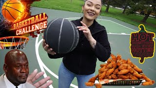 Basketball Challenge You Miss You Eat The WORLDS HOTTEST WINGS!