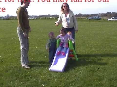 Kid Falls from slide (Face plant)