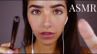 ASMR Tracing on Your Face + Inaudible/Unintelligible Whispering (lots of mouth sounds lol)