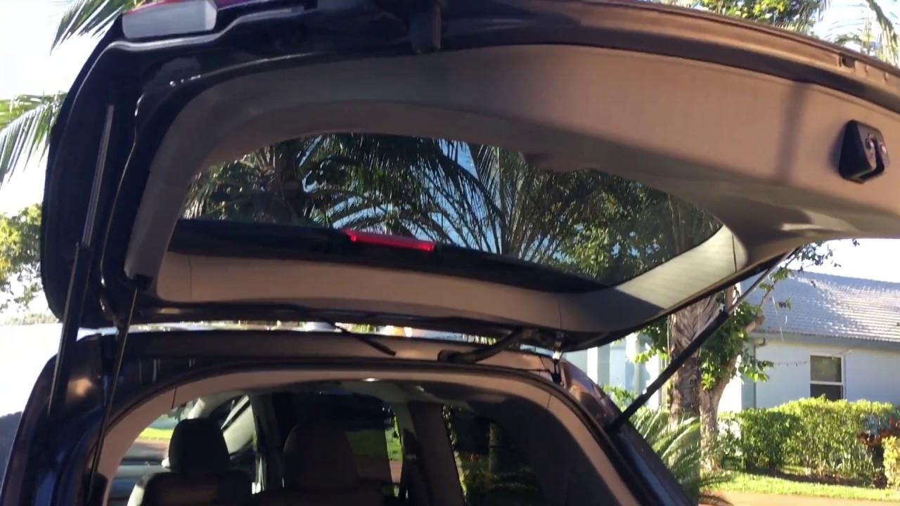 2017 Honda Odyssey License Plate Trim Removal