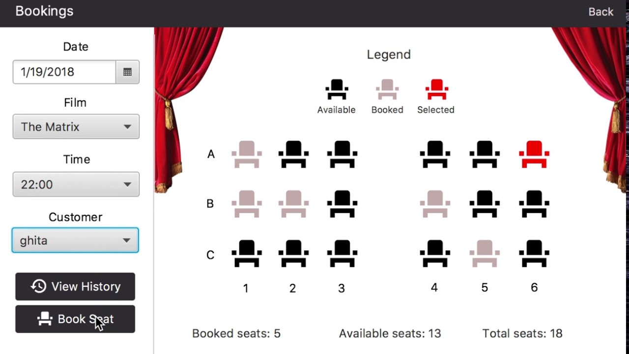 Cinema Booking System Javafx Application Youtube