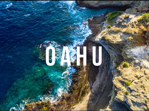 DRONE OVER OAHU HAWAII