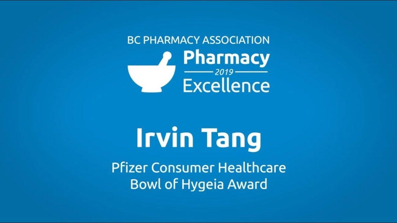 Pfizer Consumer Healthcare Bowl of Hygeia Award 2019 - Irvin Tang