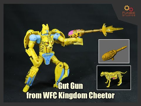 Funbie Studios 3D Printed Gut Gun for Transformers WFC Kingdom Cheetor