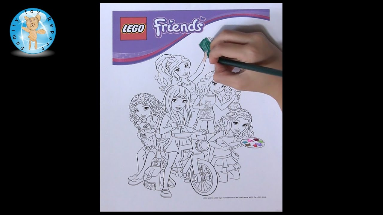 lego friends coloring page prismacolor premier softcore colored pencils review family toy report youtube - Lego Friends Coloring Pages