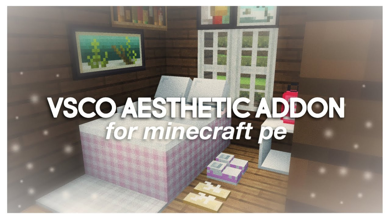 vsco aesthetic decorations for minecraft pe ☁️🦋✨ vsco mod