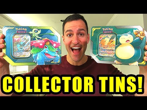 *NEW POKEMON TAG TEAM TINS!* Opening Pokemon Cards COLLECTOR Tins FROM WALMART!