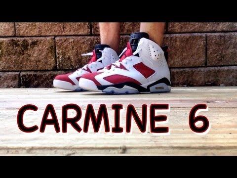new styles fb329 bdfdd Air Jordan Retro 6 Carmine On Foot Review & Fit