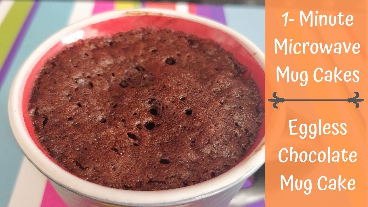 1-Minute Microwave Chocolate Mug Cake   Eggless Chocolate ...