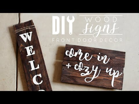 DIY Wood Signs | Front Door Decor