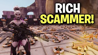 Insanely RICH! 🤑 Scammer! Gets Exposed! (Scammer Get Scammed) Fortnite Save The World