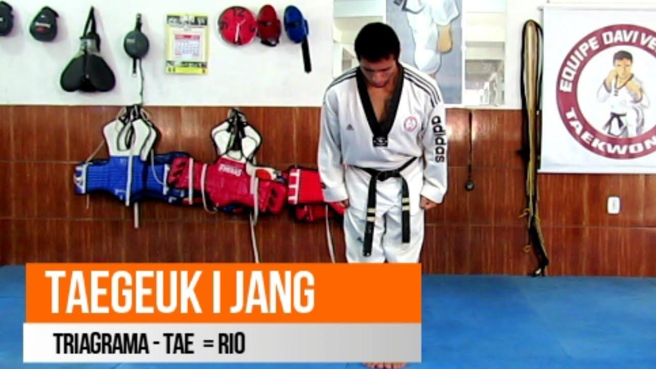 fcac7a27b28 Taegeuk i Jang - Tae   Rio - Poomsae Faixa Amarela p. Verde. Davi Velasco  Taekwondo