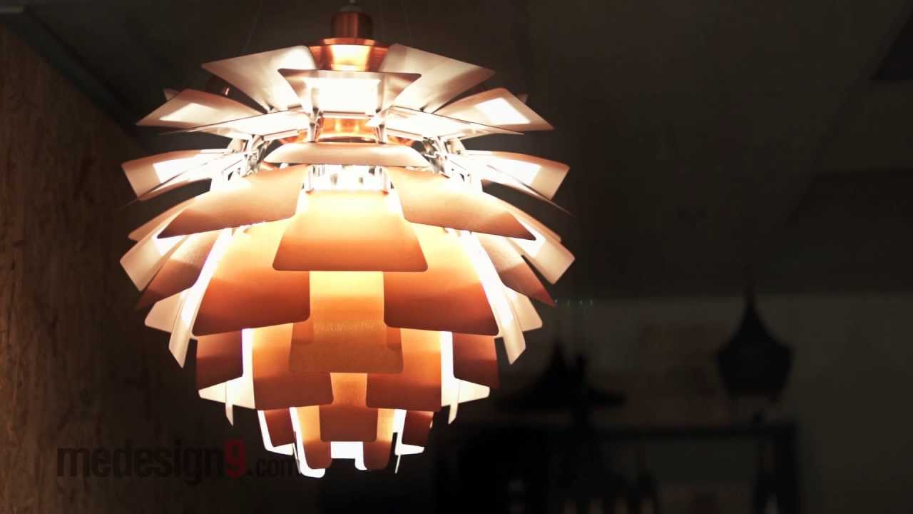 PH Artichoke Lamp - medesign9.com - YouTube