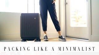 HOW TO PACK LIKE A MINIMALIST 101 | ANN LE