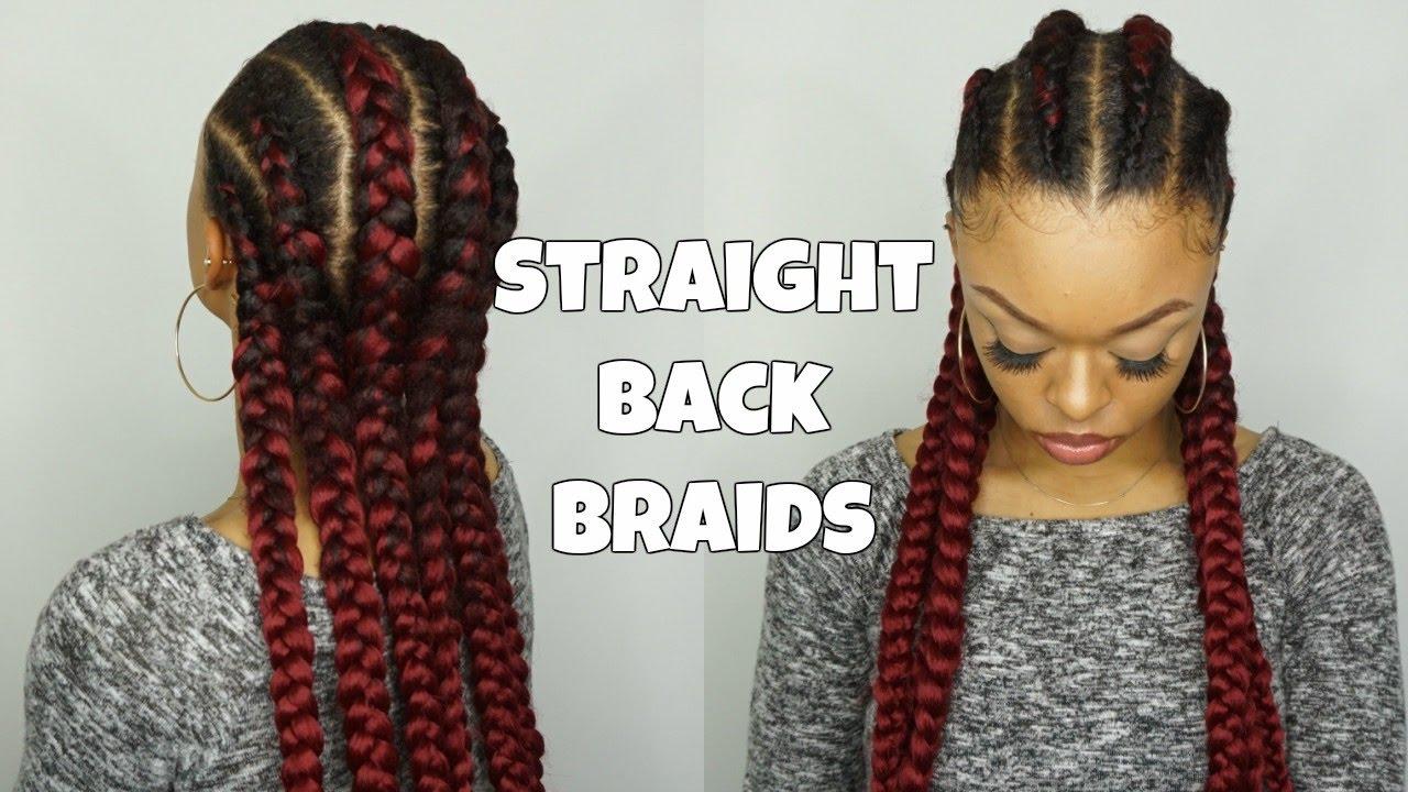 Straight Back Goddess Braids Detailed