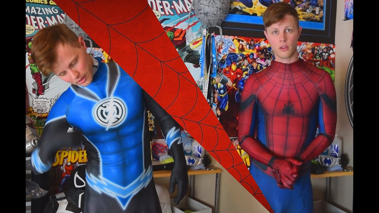 Cute Wallpapers Hands Civil War Spider Man Suit Review And Blue Lantern Flash