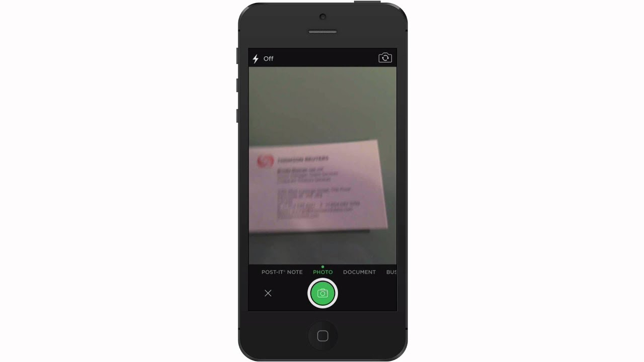 Scan Business Cards To Evernote And Add To iPhone Contacts - YouTube