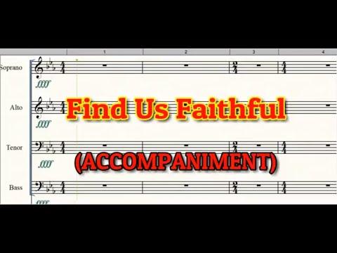 FIND US FAITHFUL PIANO ACCOMPANIMENT